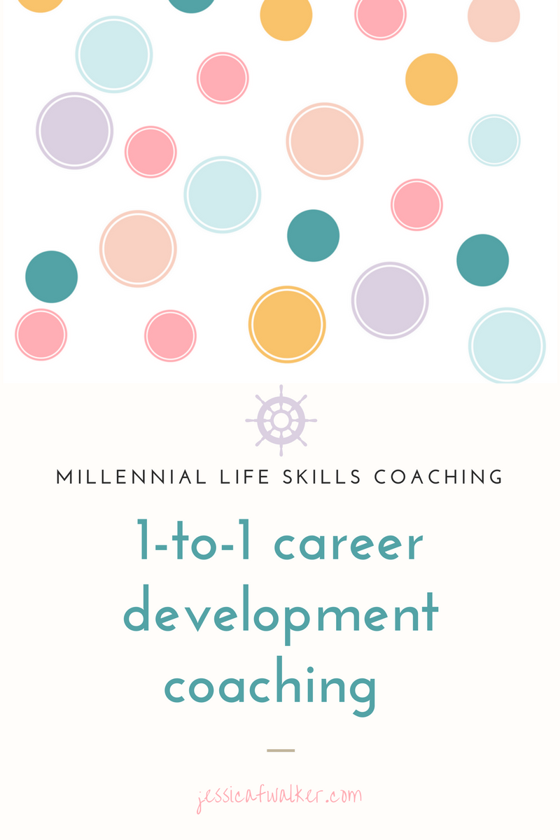 1-on-1 coaching with Jessica F. Walker - Pin for later - Starting at $149/session, career development coaching, millennial life skills, upgrade your lifestyle, catapult your career, gratitude, empowerment, success